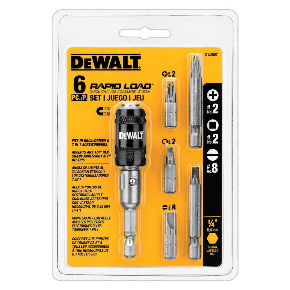 Dewalt Tools 6 piece Rapid Load Screw Driving Set at Kmart.com