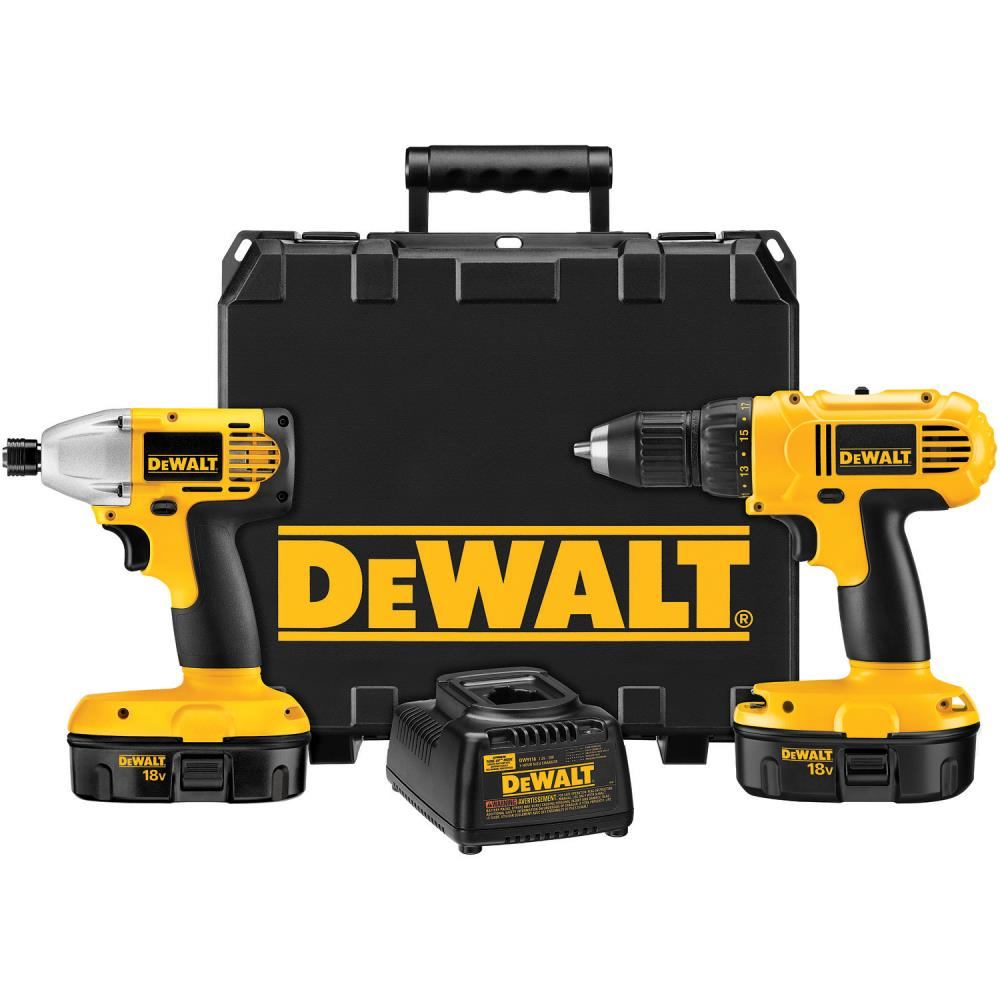 DeWalt 18 V Compact Drill/ Driver & Impact Driver Combo Kit at Sears.com