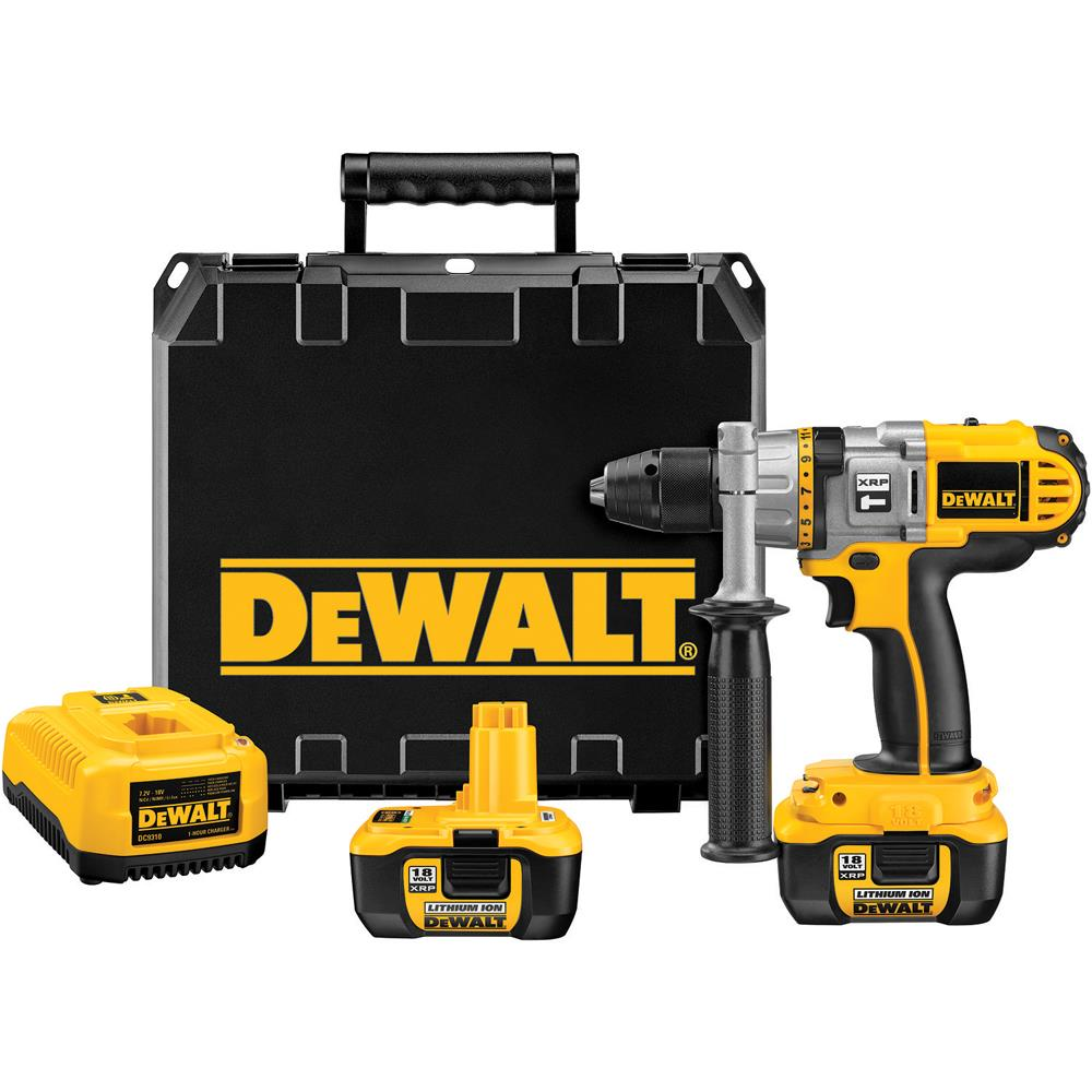 DeWalt 18 V 1/2 in. (13mm) XRP Li-ion Cordless Hammer Drill/Drill/Driver Kit