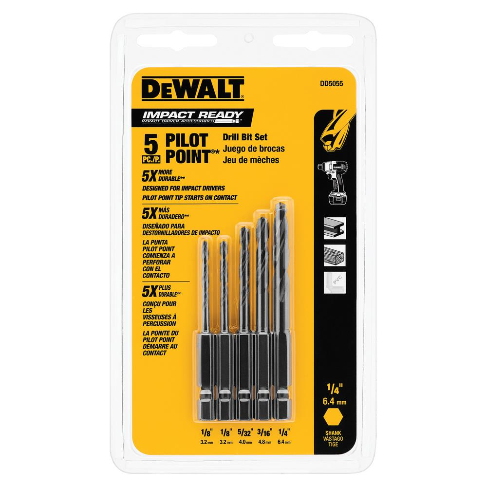DeWalt 5 Pc Impact Drill Set at Sears.com